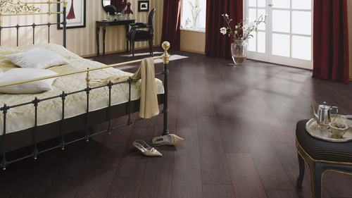 Parchet laminat Oak deep brown F12